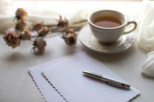 お茶とお手紙