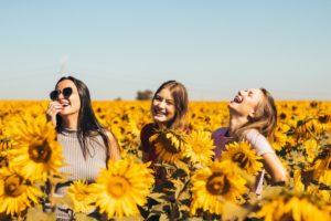 お花と女性